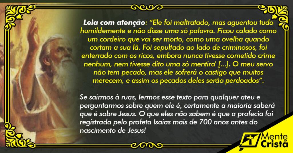 Profecias sobre Jesus