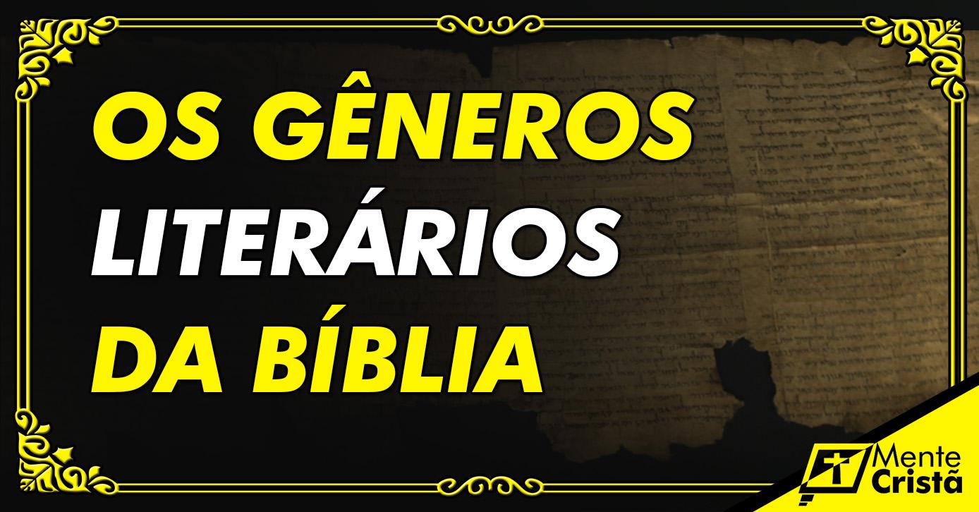 os-generos-literarios-da-biblia